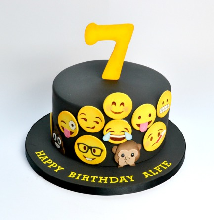 Emojis Birthday Cake